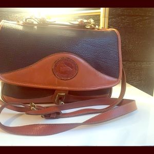 All Weather Leather Brass Vintage Dooney & Bourke